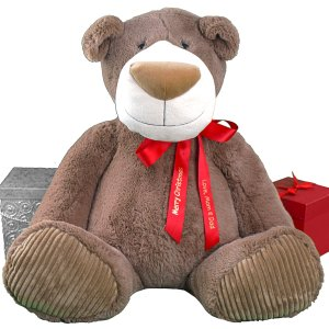 Holiday Ribbon Mocha Bear - 30