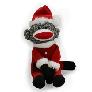 Santa Sock Monkey AU19312SNP