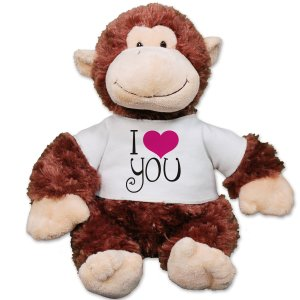 I Love You Monkey Au30866-8125