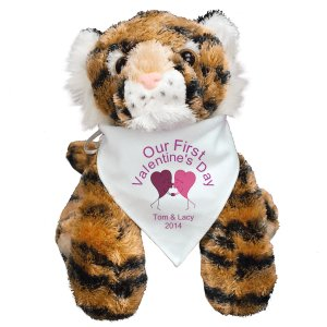 Personalized Kissing Hearts Tiger - 12