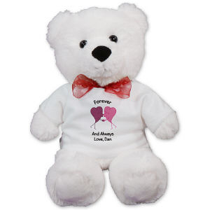 Personalized Kissing Hearts Anniversary Teddy Bear AU50250-4740