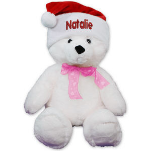 Embroidered Santa Hat Teddy Bear AU50251-E0009