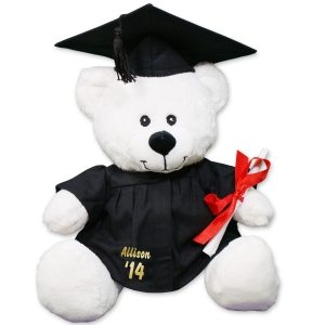 Personalized White Graduation Teddy Bear - 8