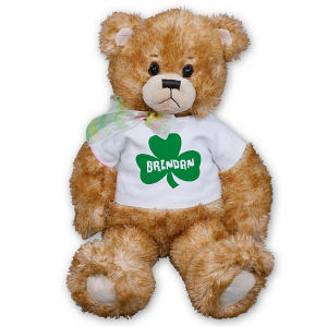 Personalized Irish Clover Teddy Bear FM1245-1213