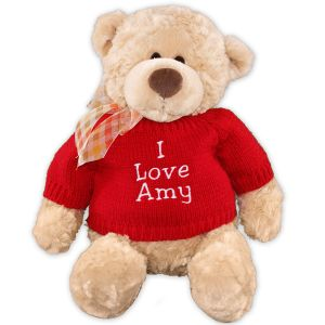 Embroidered Custom Message Teddy Bear - 16
