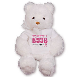 Squeeze a Boob Breast Cancer Awareness Bear GU15234-2450