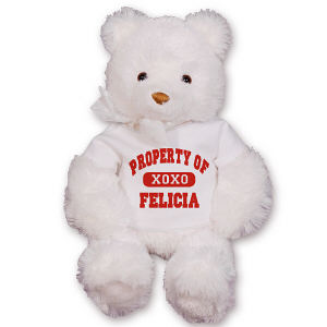 GU15235 Personalized Property Of My Valentine Teddy Bear