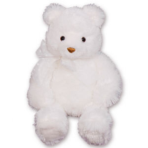 Plush Brighton Large White Bear GU15235