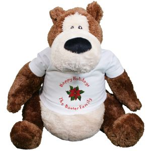 Personalized Christmas Holly Teddy Bear GU15298-4631