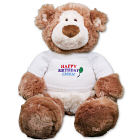 Embroidered Happy Birthday Teddy Bear - 18