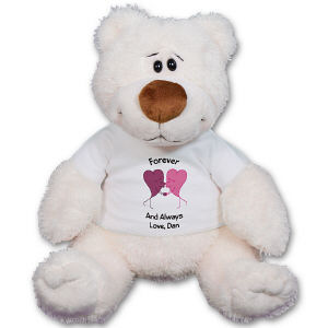 Personalized Kissing Hearts Anniversary Teddy Bear GU15349-4740