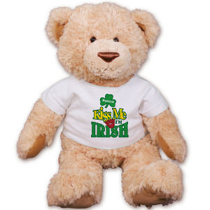 Personalized Kiss Me I'm Irish Teddy Bear GU320119-2149