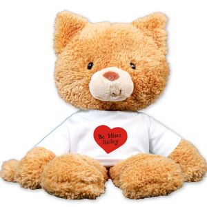 Personalized Be Mine Plush Cat GU320596-5332