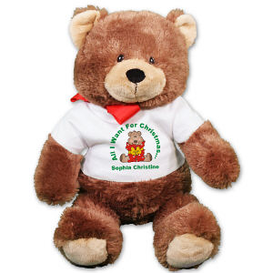 Personalized Christmas Present Teddy Bear - 20