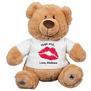 Personalized Hugs and Kisses Teddy Bear - 10
