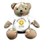 Happy Birthday Camo Teddy Bear GU4034044-4649
