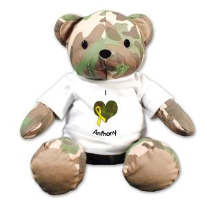Camo Heart Teddy Bear - 12