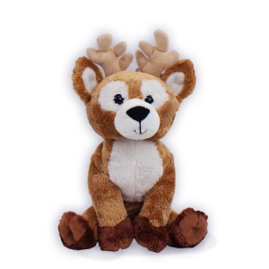 Present someone special with this adorable looking Reindeer to wish a wonderful happy holiday season. This Dearborn Deer measures 7? seated and has an adorable and realistic design. Surface washable and ideal for ages 1+.