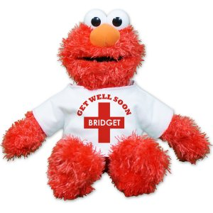 Get Well Soon Elmo Doll - 12