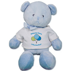 Personalized Balloons Baby Boy Teddy Bear - 12 RB34824-4779