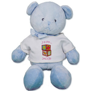 Personalized Alphabet Blocks Teddy Bear RB34824-5039