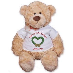 Christmas Wreath Teddy Bear GU15015-4991