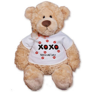 Personalized Hugs and Kisses Teddy Bear GU15016-3258