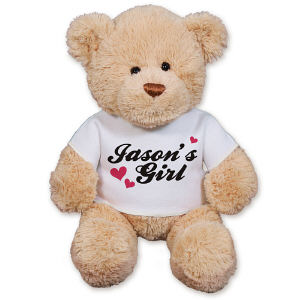 Personalized His Girl Teddy Bear GU15422-2612