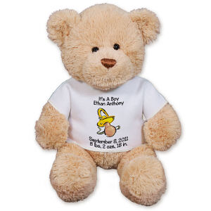 Personalized New Baby Pacifier Teddy Bear GU15422-4707