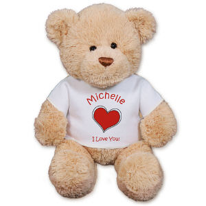 Personalized Heart Teddy Bear GU15422-4987