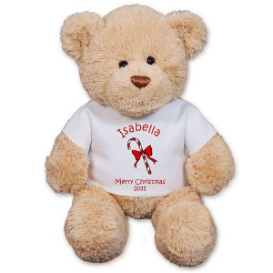 Personalized Candy Cane Teddy Bear GU15422-4989