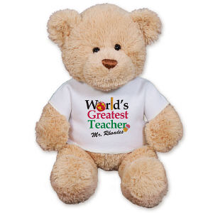 Personalized World's Greatest Teacher Teddy Bear GU15422-1117