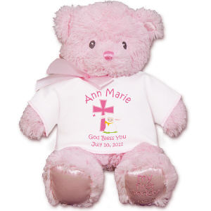 Personalized God Bless Pink Bear GU21028-4711