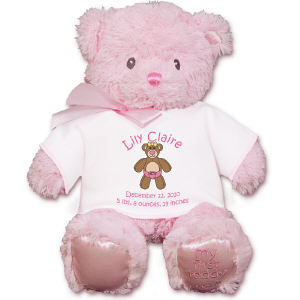 Personalized New Baby Pink Bear GU21028-4712