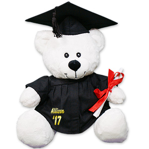 Personalized White Graduation Teddy Bear CC52944L-1703