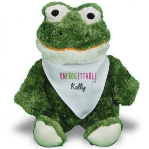 Romantic Plush Frog | Personalized Stuffed Animals For Valentineu0027s Day