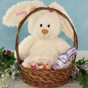 Embroidered Magnolia Easter Gift Basket GBGU4033509-7403