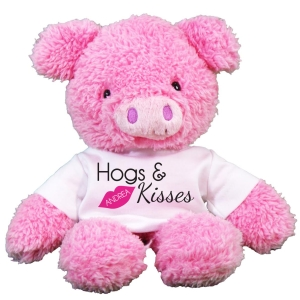 Hogs & Kisses Fuzzy Pig GU320600-8225