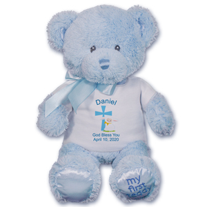 Personalized God Bless Blue Bear GU21033-4710