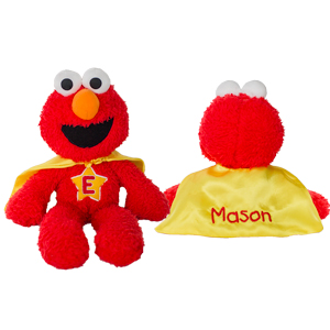 Embroidered Elmo Superhero | Personalized Sesame Street Stuffed Animals