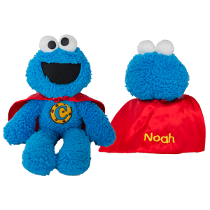 Embroidered Cookie Monster Superhero | Personalized Sesame Street Stuffed Animals