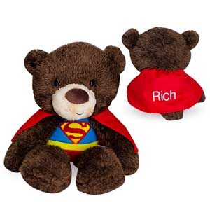 Embroidered Superman Plush Bear | Superman Teddy Bear