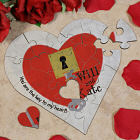 Personalized Key To My Heart Jigsaw Heart Puzzle