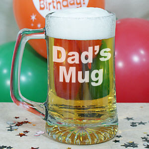 Engraved Glass Mug