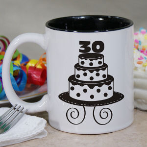 Personalized Birthday Cake Coffee Mug
