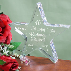 Engraved Birthday Star Keepsake