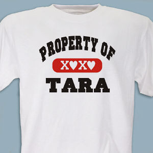 Personalized Property Of T-Shirt 8B35275X