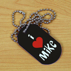 Personalized I Love You Dog Tag 8B352781