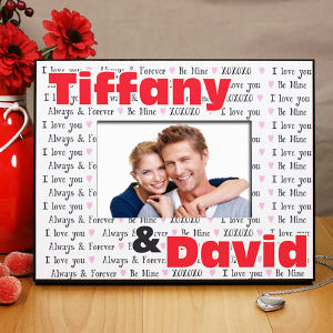Personalized I Love You Printed Picture Frame 8B452300