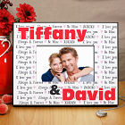 Personalized I Love You Printed Picture Frame